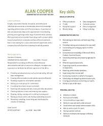 Administrative Assistant Objective Resume Samples Admin Assistant Resume Template Administrative Word Free