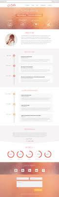 krish parallax one page resume portfolio muse template is my visual resume flat ui design by cristina stela via behance