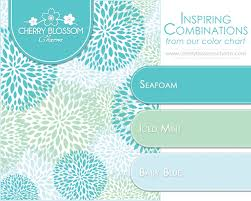 Blue In Green Chart Seafoam Baby Blue Mint Green Charming Printables