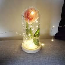 Enchanted Led Rose Light Amazon Com Uonlytech Led Rose Light Artificial Silk Rose
