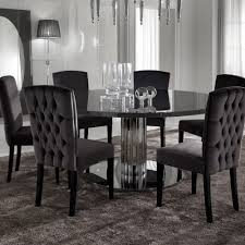italian modern designer chrome round dining table