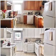white painted kitchen cabinets before and after. Kitchen Update Budget Before After, Diy, Backsplash, Cabinets, Design White Painted Cabinets And After N
