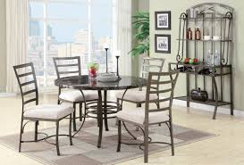 The Most Stylish Wrought Iron Dining Room Chairs Pertaining To