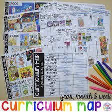 Curriculum Map Preschool Pre K And Kindergarten For The