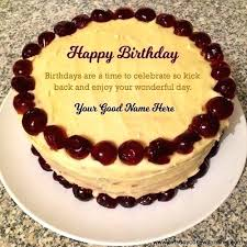 Birthday Wishes N Cake For Friend Write Name On Cherry Quotes Sister