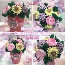 Cupcake Flower Vase Cakes And Memories