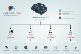 Modern Org Chart Modern And Smart Organization Chart In Which Apply Icon Into