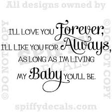 i ll love you forever nursery baby