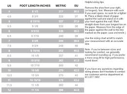Riedell Boot Size Chart Roller Skate Size Chart