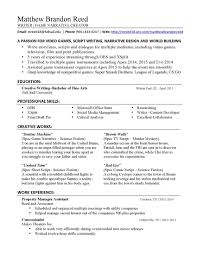 Resume Tips Creative Writing Resume Writing Samples Resume Samples