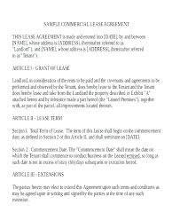 Standard Commercial Lease Agreement Business Property Lease Agreement Template Free Commercial Lease