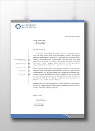 Letterhead Example Professional Company Letterhead Template Theveliger