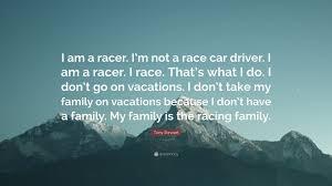 tony stewart e i am a racer i m not a race