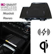 Dành cho Xe MAZDA 6 sạc Không Dây CHUẨN QI Ẩn Không Dây sạc Điện Thoại Hộp  Bảo Quản Cho Mazda6 3th ATENZA Cables, Adapters & Sockets