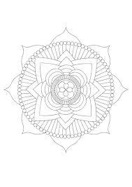 Kleurplaat Mandala Lotus Afb 30444 Images