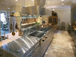 Tile For Restaurant Kitchen Floors Brown Floor Tiles With Modern Stainless Steel Cabinet For Cute