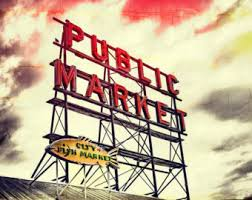 Small Picture Market sign seattle Etsy