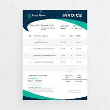 Invoice Templete Elegant Professional Invoice Template Design