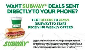 Subway Text Message Advertisement Example 8 Gleantap
