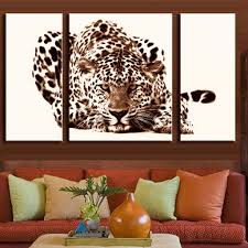 office leopard print. 3 Pcs/Set Office Decoration Modern Animal Leopard Prints Painting On Canvas Brown Cream Wall Art For Boys Room Decor-in \u0026 Calligraphy From Print A