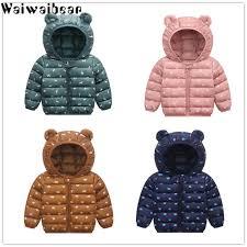 <b>Waiwaibear Baby</b> Winter Coats Down Jacket Kids Clothes Hooded ...