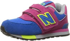 New Balance Unisex Kids' <b>574 Hook and Loop</b> High Visibility Low ...