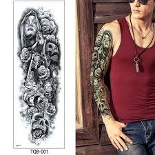 Rameno Nohy Buddha Fake Flower Velké Tattoo Gift Dočasné Tetování Samolepky At Vova