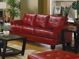 Red Leather Living Room Sets Samuel Red Leather Living Room Set 501831 From Coaster 501831