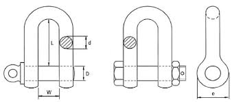 Shackle Weight Chart Dee Shackle Specifications Lifting Gear Safety
