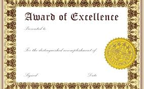 Award Of Excellence Certificate Template template Employee Of The Month Certificate Template Word Free 96