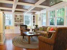 i love this beadboard ceiling with coffers living room s15 living