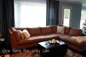 Tan Leather Sectional Sofa Bonners Furniture Pertaining To Prepare 19 Tan Leather Sectional A92