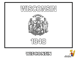 In addition, the kid is carried away and does not bother his mother while she does her business. Wisconsin State Flag Coloring Page Coloring Home