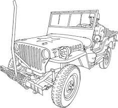 Militaire Auto Kleurplaat Gratis Kleurplaten Printen