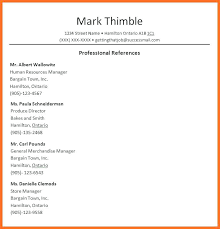 Sample Of Resume Reference Page Professional Reference List Soap