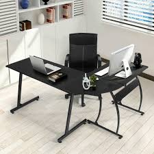 dalton corner computer desk sand oak. GreenForest L-Shape Corner Computer Desk PC Laptop Table Workstation Home Office 3-Piece,Black Dalton Sand Oak :