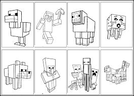 High Tech Minecraft Coloring Pages Printable Simplistic Free Print