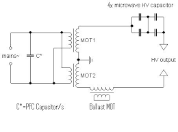 how to resonant microwave oven transformer high voltage supply putting it together