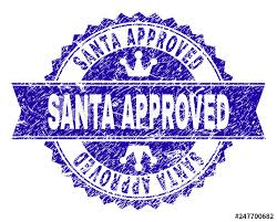Santa Watermark Santa Approved Rosette Seal Watermark With Grunge Texture
