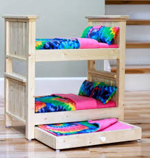 Image Build Your Own 10 Barbie Bunk Beds With Trundle Bed Wonderful Diy For Your Little Princess Ultracutediy Furniture For Barbie Dolls