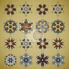 Fototapeta Vektor Okrasné Mandala Nastaven Kulatý Vzor Circle Tattoo