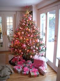 the pink ornaments  Klosterman Christmas Tree