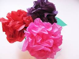 Flower Paper Craft Simple Steps To Craft Tissue Paper Flowers