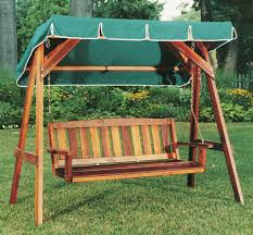 wooden bench swing canopy