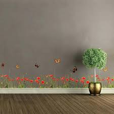 poppy wall decal poppy wall decals poppies and erflies border wall decal white poppy wall decals poppy wall decal