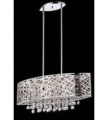 lite source el 10103 benedetta 5 light 30 inch chrome pendant ceiling light photo
