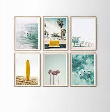 california wall art beach themed room
