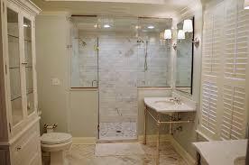 open vanity herringbone tile chandelier master suite st louis mo