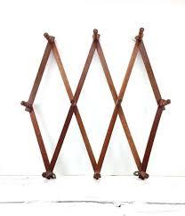 accordion rack vintage wooden accordion peg rack wall hanging jewelry organizer for coat ideas accordion peg
