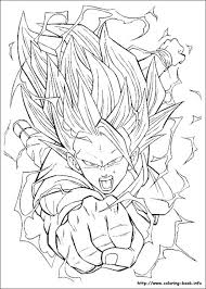 Halloween Coloring Pages Dragon Ball Z Goku Super Saiyan Coloring Pages